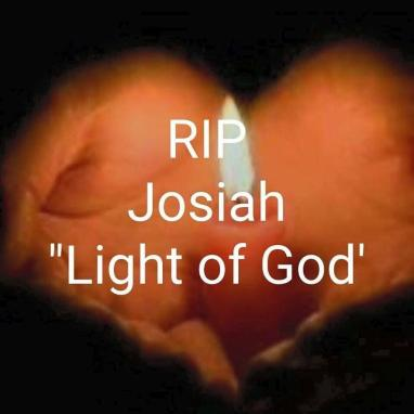 One of the many pictures of candles shared with us, honoring Josiah
